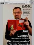 Dan Lungu va sustine o lectura publica din romanele sale la Munchen