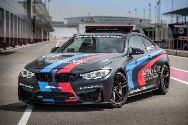 BMW m4 official safety car