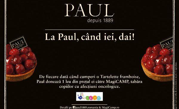 Cumpără o tartă cu zmeură de la Paul şi oferă zâmbete copiilor din MagiCAMP