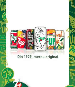 7UP lansează o ediţie limitată de colecţie: 7UP Vintage
