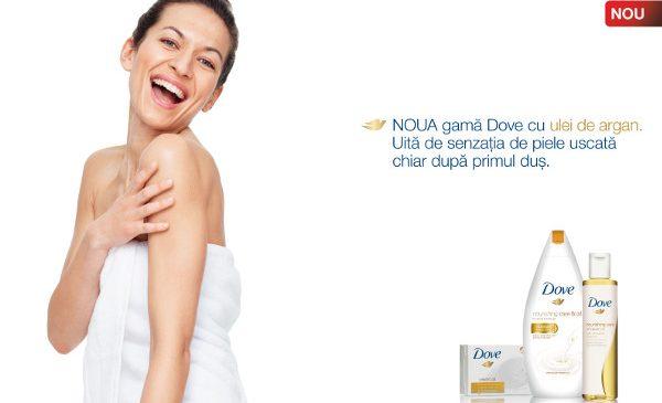 Descoperă noua gamă Dove Nourishing Care & Oil – special creată pentru îngrijirea pielii uscate –