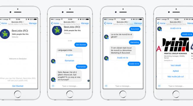 BestJobs introduce căutarea de joburi pe Facebook Messenger