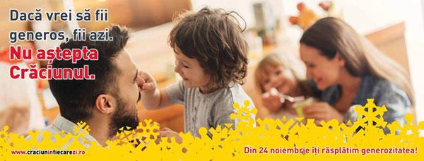 """Noua campanie BILLA """"Generoși în fiecare zi"""" invită la menținerea spiritului Crăciunului pe tot parcursul anului și răsplătește generozitatea"""