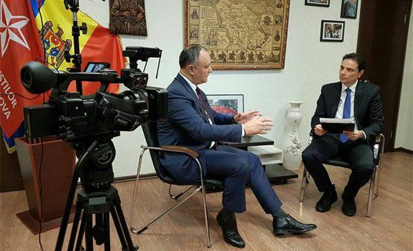 Igor Dodon, interviu în exclusivitate pentru TVR