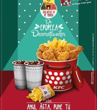 De sărbători, surprinde-i pe cei dragi cu noul Christmas Bucket de la KFC