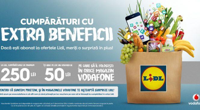 Lidl și Vodafone te surprind cu extra beneficii la cumpărături