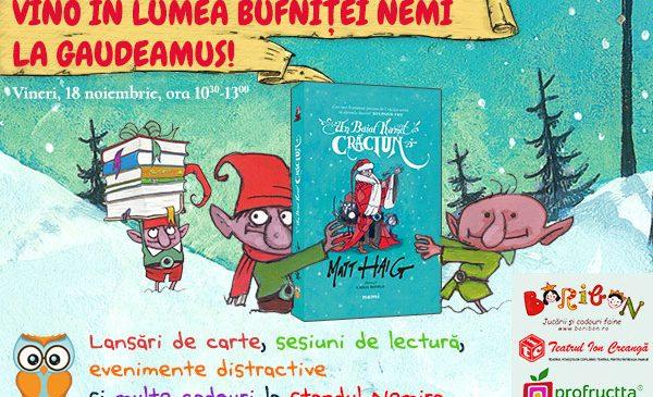 Evenimente pentru copii în colțul editurii NEMI la Gaudeamus – vineri, 18 noiembrie