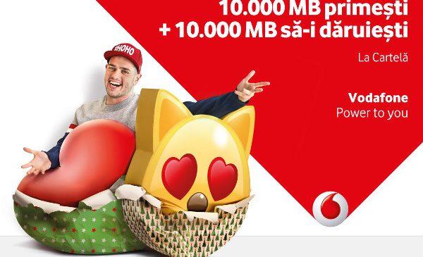 Vodafone oferă bonusuri de 10.000 de MB atât utilizatorilor, cât și prietenilor lor