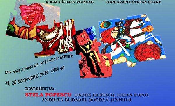 """A 6-a premieră a Teatrului Stela Popescu, """"De la Chiriţa la Harap Alb"""", va avea loc înainte de Crăciun"""