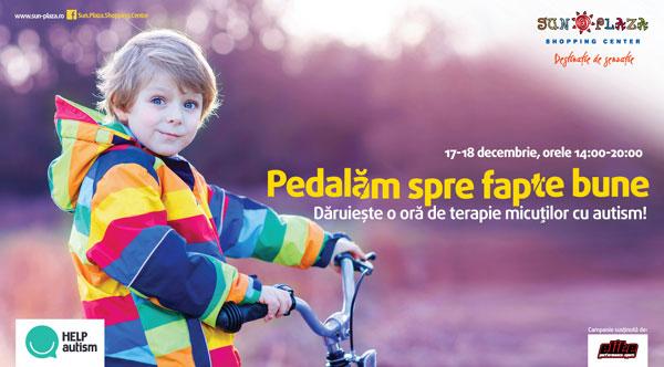 Vedetele pedalează spre fapte bune pentru copiii cu autism