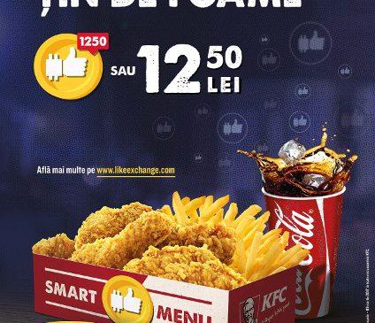 Acum, la KFC poți achiziționa cel mai dorit meniu plătind cu like-uri