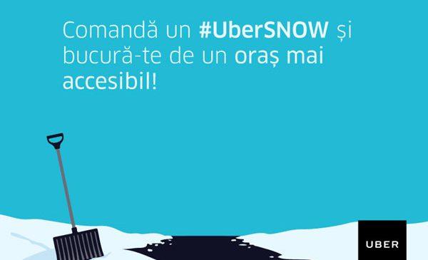 UberSNOW: Deszăpezire la comandă, direct din aplicație, pentru un  București mai accesibil