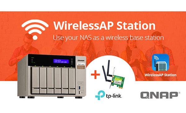 WirelessAP Station transformă NAS-ul QNAP într-o stație de bază wireless