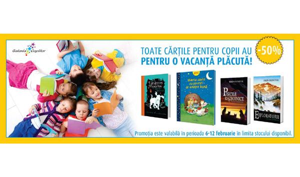 50% reducere la toate cărțile pentru copii apărute la Editura Galaxia Copiilor, Grupul Editorial ALL