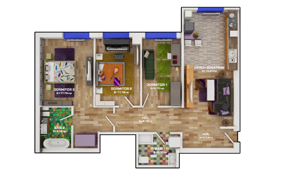 Praktiker apartament cadou Palladium Residence