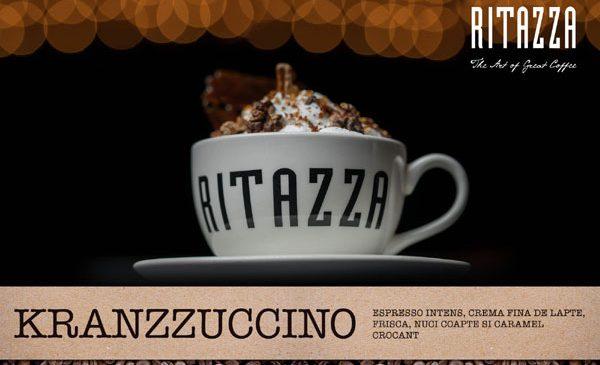Caffé Ritazza România a lansat Kranzzuccino, un amestec crocant de cafea, nuci coapte și foițe de caramel în ediție limitată