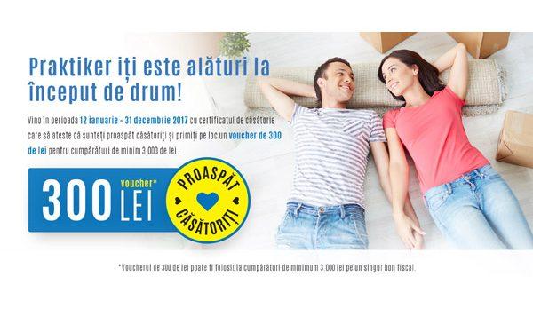 De 5 ani, Praktiker România susţine tinerii căsătoriţi cu vouchere cadou în valoare de 300 RON