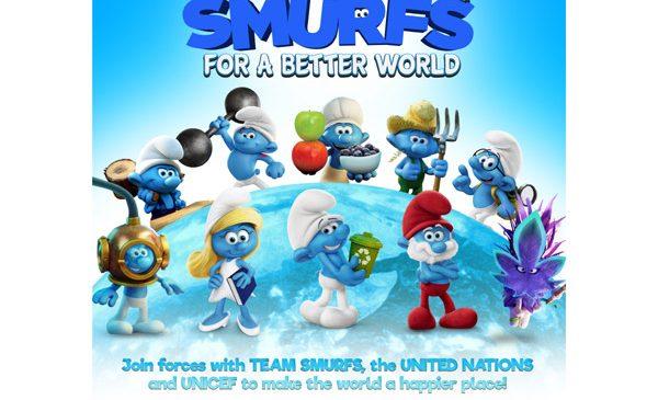 Ștrumpfii fac echipă cu Națiunile Unite, în 2017, pentru o lume mai fericită, mai pașnică și mai echitabilă