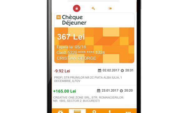 Up România lansează o nouă versiune a aplicaţiei mobile asociată cardurilor de masă