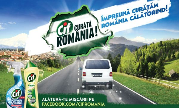 """Cif Curăţă România pentru al patrulea an şi lansează programul """"Împreună Curăţăm România Călătorind!"""""""