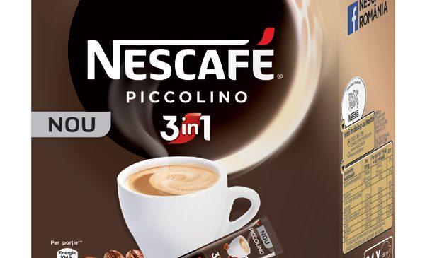 Mai puțin înseamnă acum mai mult: NESCAFÉ inovează categoria 3in1 cu NESCAFÉ 3in1 PICCOLINO, prima cafea 3in1 scurtă