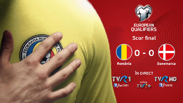 România-Danemarca, cel mai vizionat meci transmis de TVR 1 din preliminariile Cupei Mondiale FIFA Rusia 2018