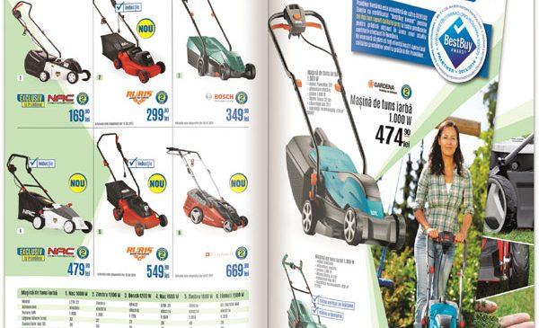 """Catalogul """"Unelte şi Maşini de Grădină"""" de la Praktiker aduce primăvara în grădina ta"""