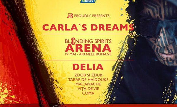Carla's Dreams canta cu Zdob si Zdub in super-concertul Blending Spirits Arena, la Arenele Romane