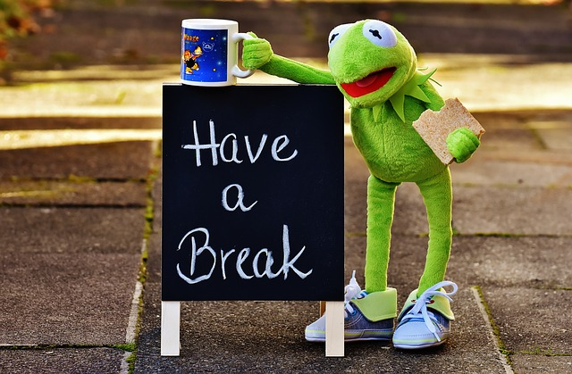 kermit take a break pixabay