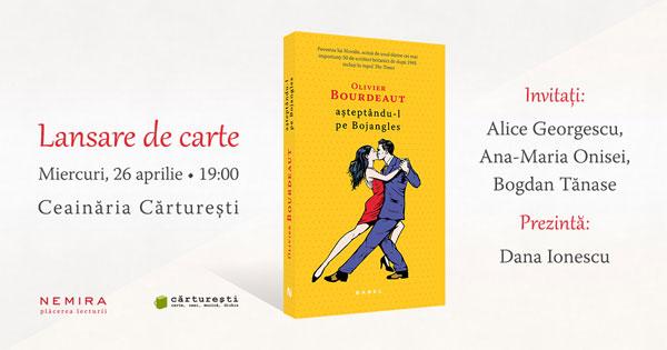 """Multi-premiatul roman """"Așteptându-l pe Bojangles"""", de Olivier Bourdeaut se lansează pe 26 aprilie"""