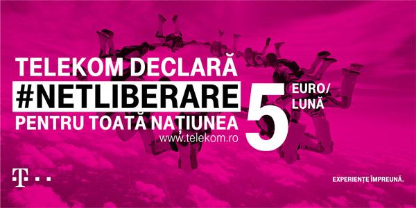 Telekom România şi Leo Burnett lansează o nouă platformă de comunicare: #NETLIBERARE