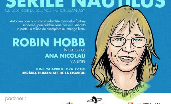 Celebra scriitoare fantasy Robin Hobb este invitată prin skype la Serile Nautilus, luni, 24 aprilie