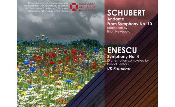 Premiera londoneză a Simfoniei a IV-a enesciene, orchestrată de Pascal Bentoiu