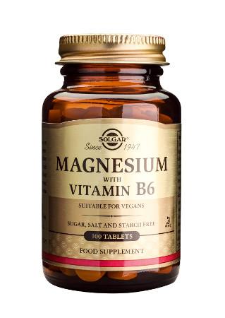Magneziu cu vitamina B6 de la Solgar