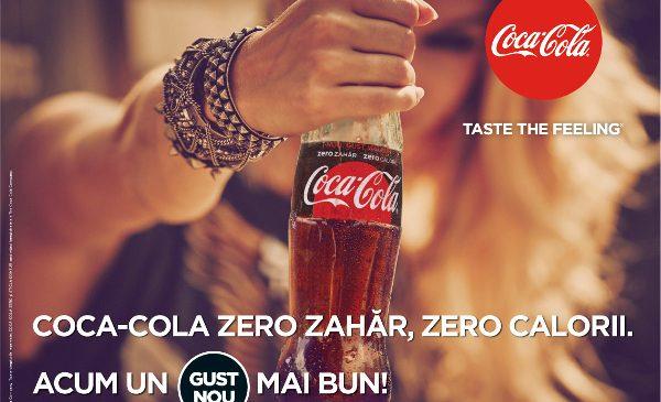 Noul Coca-Cola Zero Zahăr. Zero Calorii: