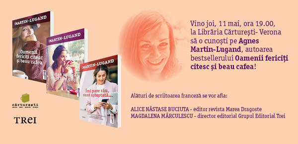 Întâlnire cu Agnès Martin-Lugand la Cărturești Verona