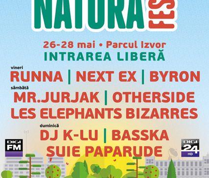 Natura Fest revine în weekendul 26 – 28 mai, în Parcul Izvor