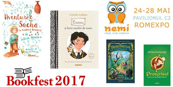 Noutăți și surprize pentru copii de la editura Nemi la Bookfest 2017