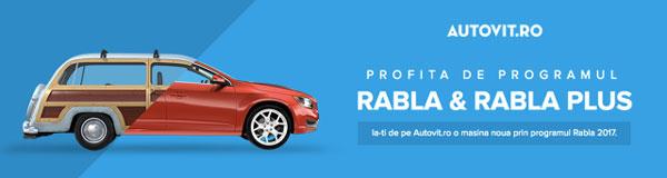Programul Rabla 2017 ajunge și pe Autovit.ro: 45 de oferte de mașini noi de la 11 mărci, într-un singur loc