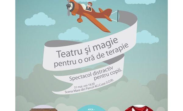 Teatru și magie, pentru o oră de terapie! – Spectacol superdistractiv pentru copii, în parcul I.O.R.