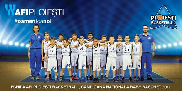 Echipa AFI Ploiești Basketball a câștigat Campionatul Național de Baby Baschet 2017