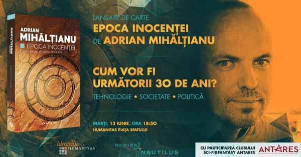 """""""Epoca inocenței"""" – lansare de carte la Brașov și discuție despre următorii 30 de ani"""