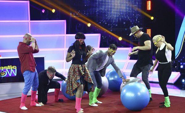"""Dan Helciug, Julie Mayaya, Rocsana Marcu și Rareș Varniote, în competiție la """"FANtastic Show"""", alături de Liviu Vârciu și Andrei Ștefănescu"""