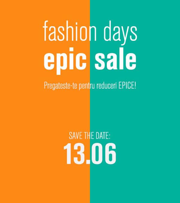 Fashion Days Epic Sale iunie 2017
