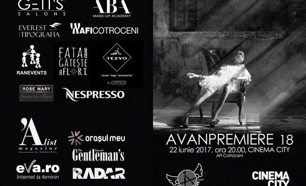 Gala AVANPREMIERE, la a 18-a ediţie, ajunge la Cinema City din AFI Cotroceni