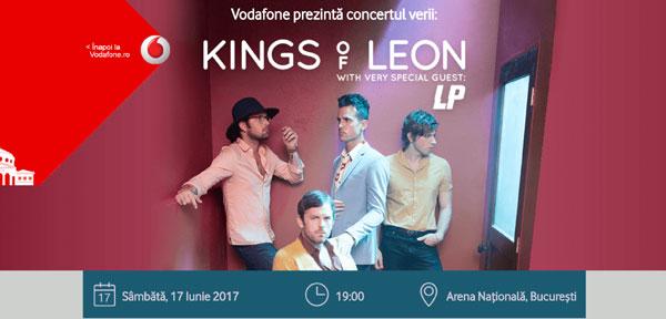 Vodafone România oferă internet nelimitat și gratuit la concertul Kings of Leon de pe Arena Națională
