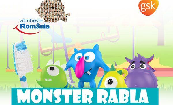 """Caravana """"Monster Rabla – pentru periuța de dinți"""" ajunge în șase orașe din țară, începând cu 17 iunie 2017"""