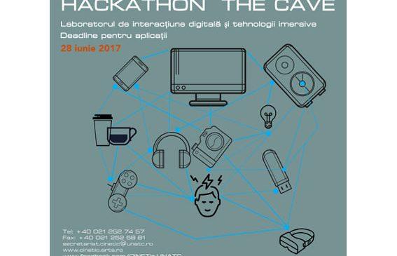 Apel pentru inscrieri in cadrul CINETic Hackathon: THE CAVE – experiment și experiență