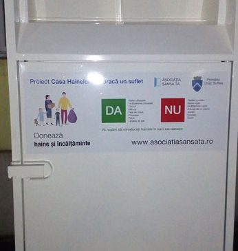 Asociaţia Şansa Ta instalează în Buftea primul container colector de haine din judeţul Ilfov