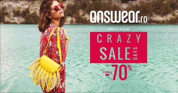 Crazy Sale Days pe Answear.ro: reduceri de până la 70% la peste 34.000 de produse